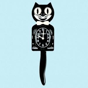 Bilde av Kit-Cat klokke Classic Black