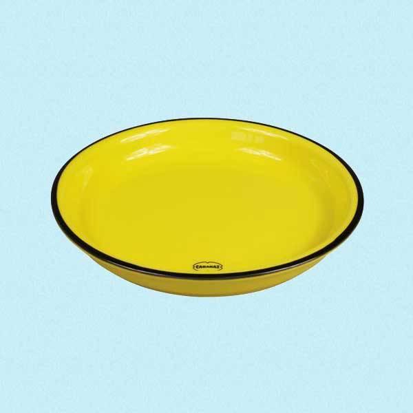 Asjett i retrostil gul