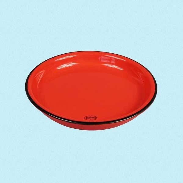 Asjett i retrostil rød