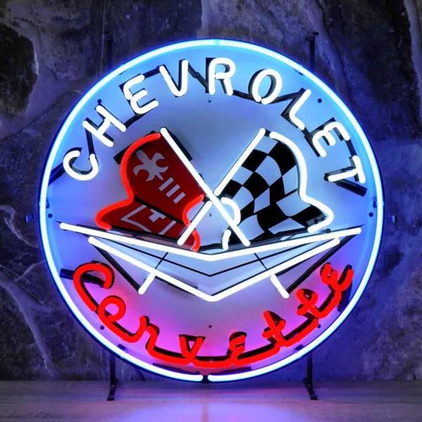 Chevrolet Corvette neonskilt