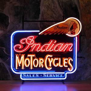 Bilde av Neonskilt Indian Motorcycles