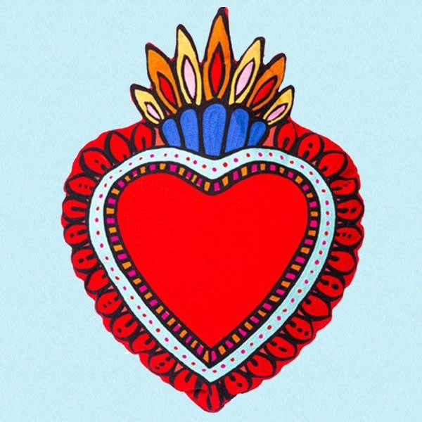 Hjerteformet pute Milagro