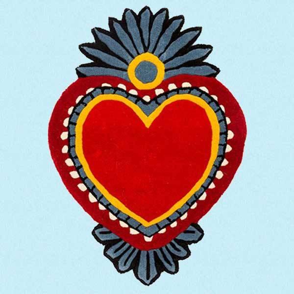 Hjerteformet teppe Milagro