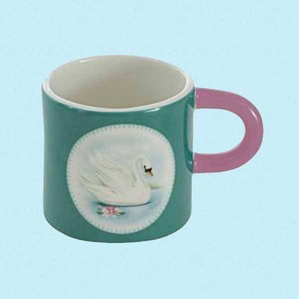 Frokostsett i keramikk med svane