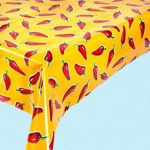 Bilde av Voksduk med chilier i gult