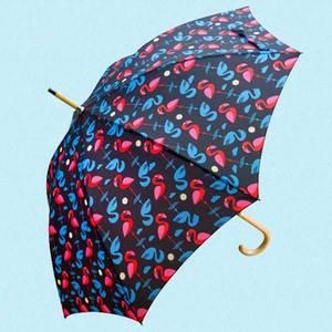 Bilde av Paraply med flamingoer
