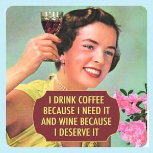 Bilde av Coaster I drink coffee