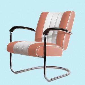 Bilde av Lounge stol (LC 01) rosa