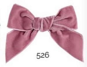 Bilde av Velvet hårsløyfte (rosa)