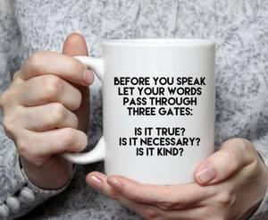 Bilde av Kaffe / te kopp before you speak
