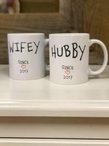 Bilde av Wifey og hubby - kopper ( 2 stk )