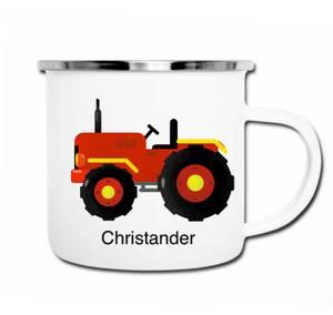 Bilde av Rød traktor kopp