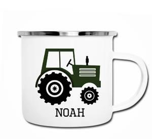 Bilde av Grønn traktor kopp