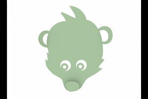 Bilde av Knagg bjørn - grønn