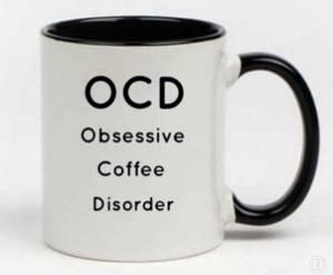 Bilde av Kaffe / te kopp OCD (sort og hvit)