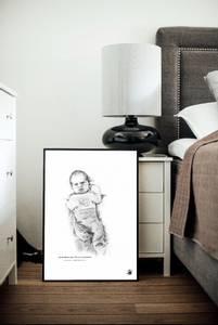 Bilde av Ekslusiv Fødselsplakat Giclée skala 1:1