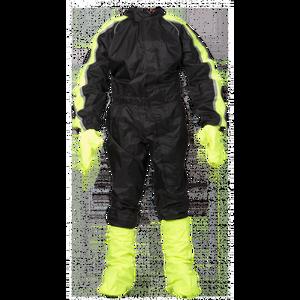 Bilde av Regndress svart med gule felter - 8XL Inkl sko og