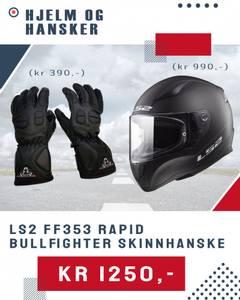 Bilde av Hjelm og hansker - mopedpakke