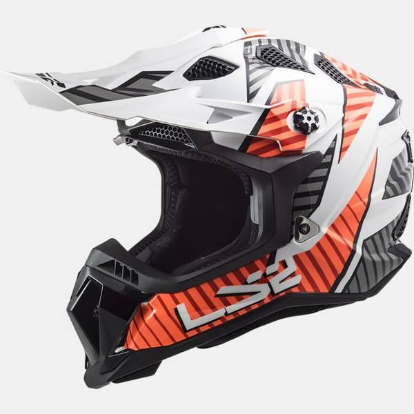 LS2 MX700 Subverter Astro Gloss hvit / Oransje