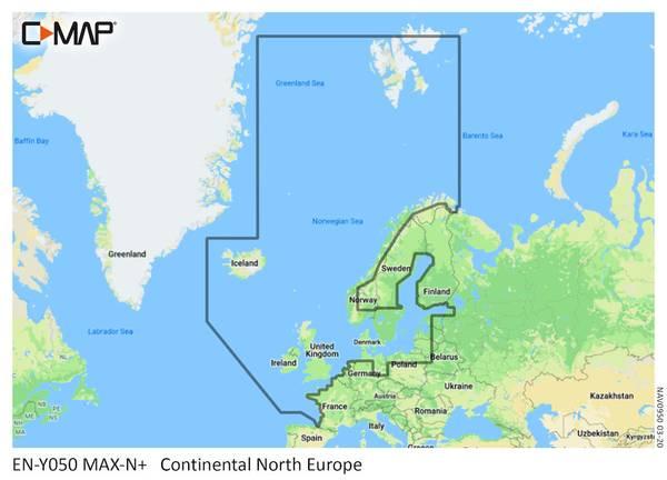 Bilde av C-map DISCOVER - NORTHERN &