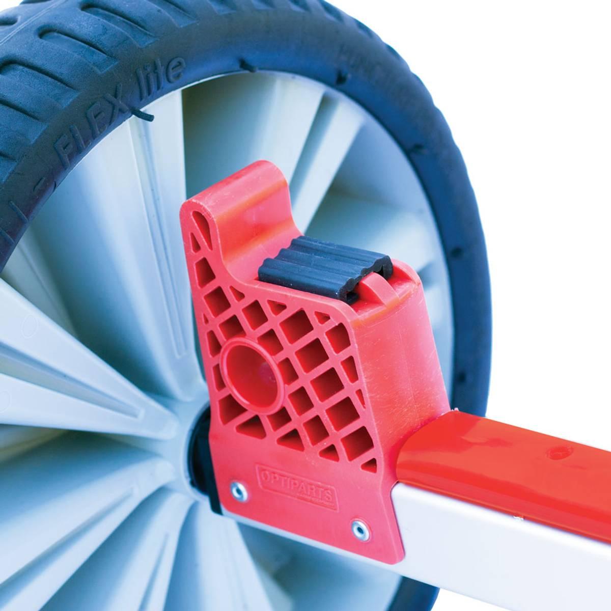 Optimist tralle m/store hjul