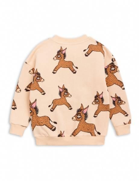Mini rodini, donkey sweatshirt brun