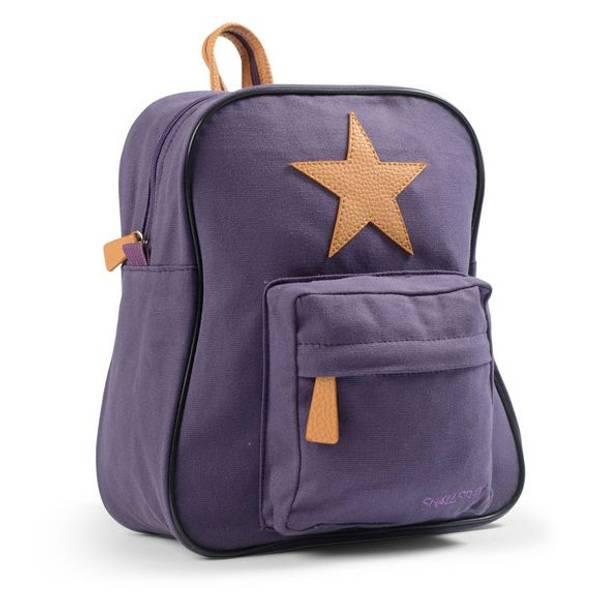 Smallstuff, barnehagesekk med stjerne lilla