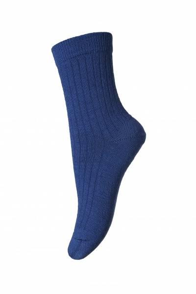 MP, ullsokk rib blue 718