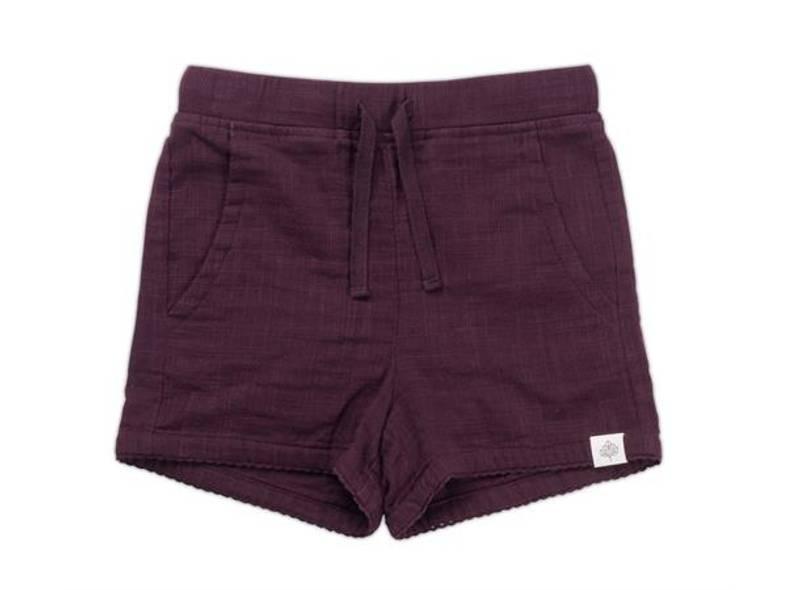 Gullkorn design, Anemone shorts lilla nellik