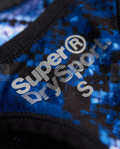 Superdry, Core gym sports-bh purple python