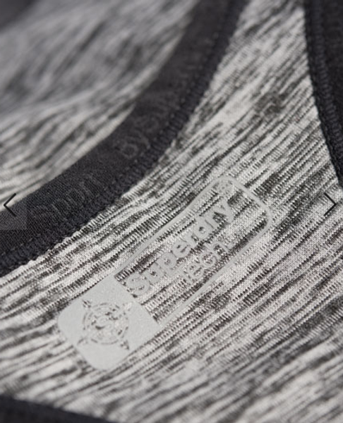 Superdry, Core gym sports-bh speckle charcoal