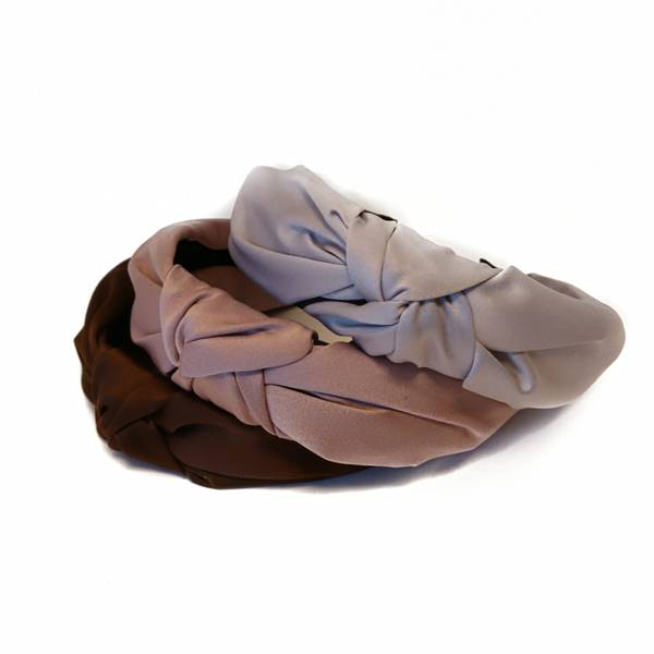 Noma, 3 hårbøyler brun/dusty lavendel/lys grå