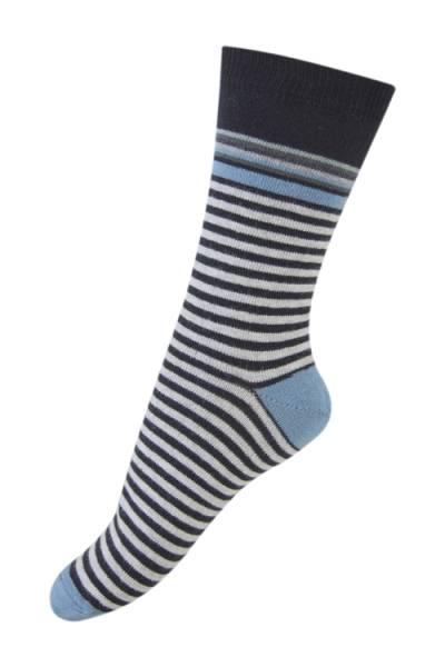 Melton sokker, svarte striper