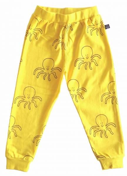 IdaT , gul bukse med blekksprutprint