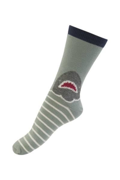 Melton sokker,  shark! blue atoll