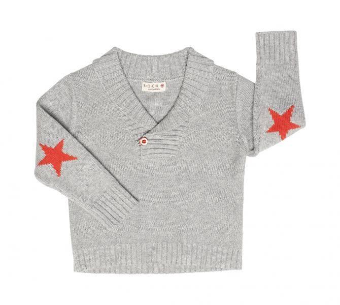 Bock Cph,strikket genser med krave,  grå