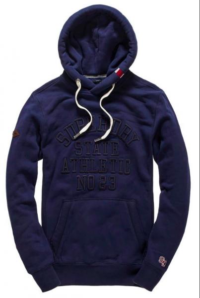 Superdry, Core applique hood, navy hettegenser