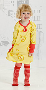 Bilde av Albababy, Gaby gul kjole