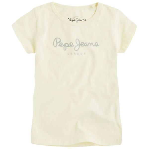 Pepe Jeans, Hana glitter t-skjorte sorbet lemon