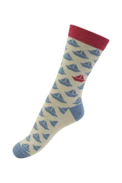 Melton sokker,  seilbåter
