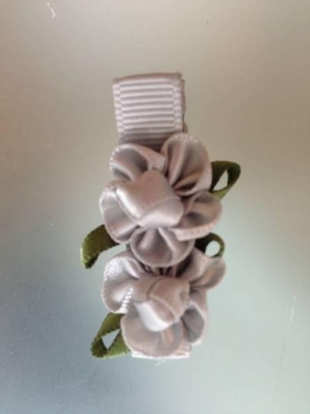 Hårspenne, sølv blomster 179,  Den lille prikken over i'en