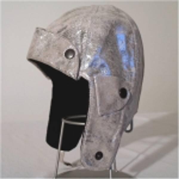 Barnelue skinn, sølv patinert