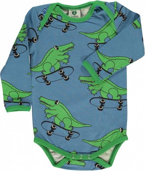 Småfolk, sky blue body med krokodiller