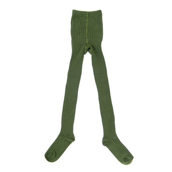 Little Hedonist, ribbed tights olive