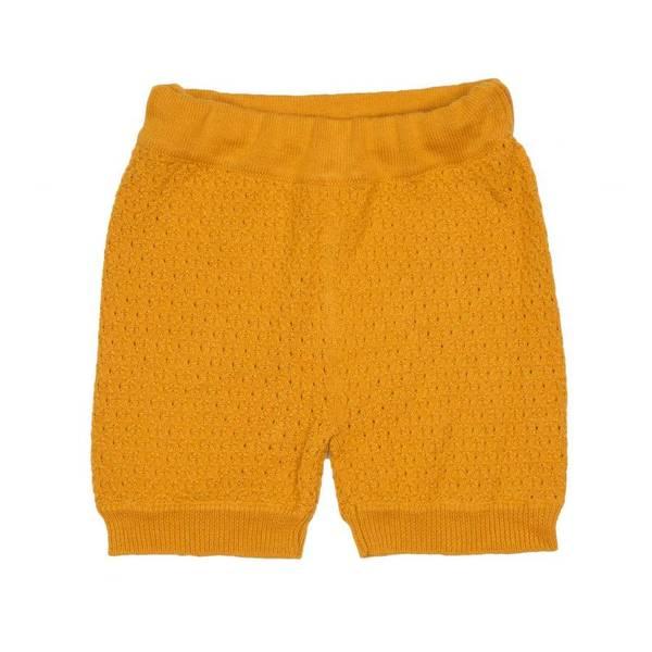 MeMini, Lane strikkeshorts apricot yellow