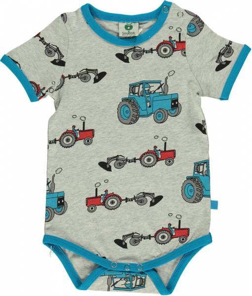 Småfolk,  grå body med traktorer