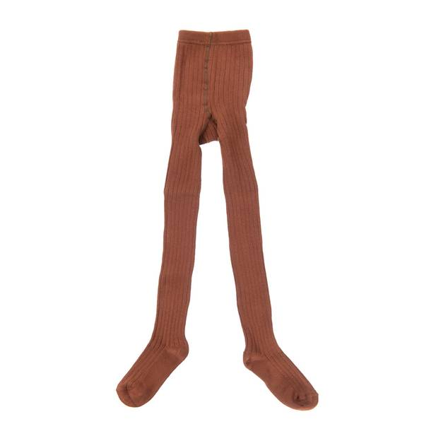 Little Hedonist, ribbed tights brown