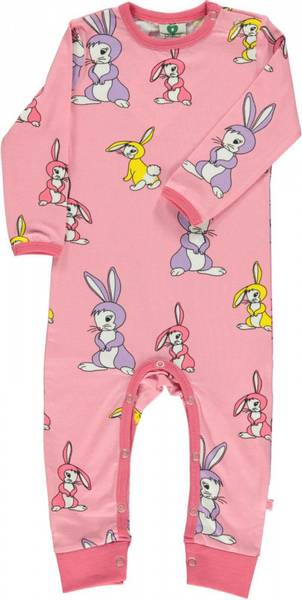 Småfolk,  sea pink heldrakt med kaniner