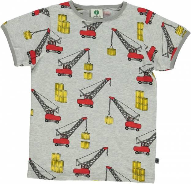 Småfolk grå tskjorte med kraner