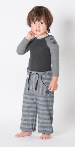 Albababy, Hillan baggy pants dark denim striped